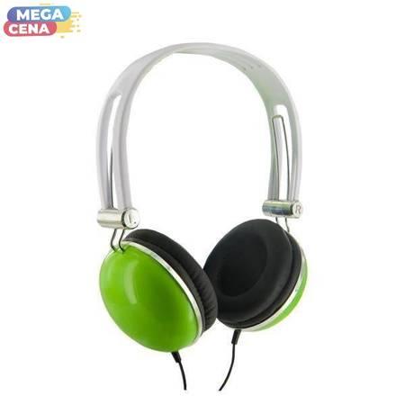 4World Słuchawki stereo pałąk zielone