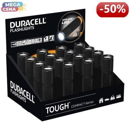 Duracell Latarka TOUGH COMPACT wodoodporna 3xAAA 5h20min 65lm 50m display 16 szt