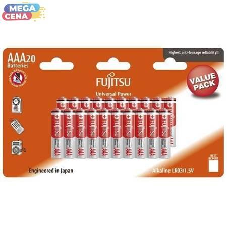 FUJITSU Bateria alkaliczna LR03 AAA, 1.5V, 20szt, blister