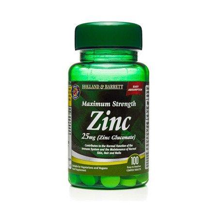 Maksymalna Siła Cynku 25 mg 100 Tabletek
