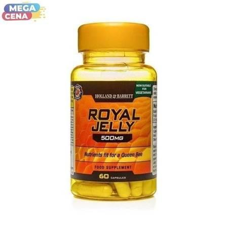 Mleczko Pszczele 500 mg Produkt Wegetariański 60 Kapsułek