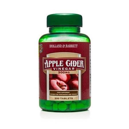 Ocet Jabłkowy 300 mg 200 Tabletek