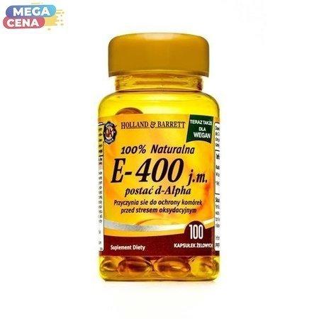Produkt Wegański Witamina E 400iu 100 Kapsułek Żelowych