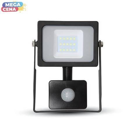 V-TAC Naświetlacz LED VT-20-S 20W SMD CZUJNIK PIR CZUJKA SAMSUNG CHIP 6400K CZARNE SZKŁO