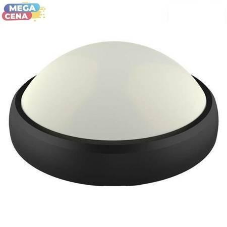 V-TAC Plafon LED VT-8010-B 12W 840lm 4500K IP54 OWALNY CZARNY