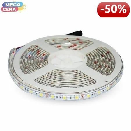 V-TAC Taśma LED SMD RGB VT-5050 60/300 10,8W/54W 12V IP65 5mx10mm
