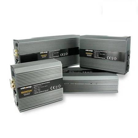 Whitenergy Przetwornica samochodowa 800/1600W 24V(DC)- 230V(AC) z portem USB
