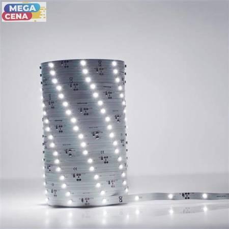 Whitenergy Taśma LED, 5 m, 30 szt./ m, SMD3528, 2.4W/ m, 12V, wewnątrz, 8mm, zimny biały, konektor