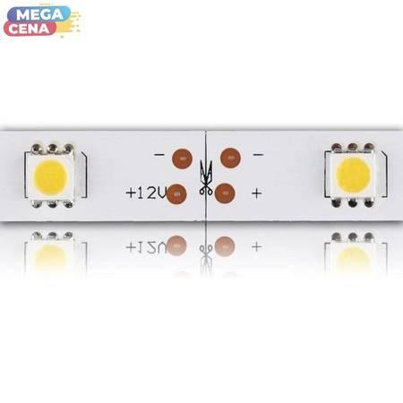 Whitenergy Taśma LED 50m 30szt/m SMD5050 7.2W/m 12V IP20 10mm ciepła biała bez konektora