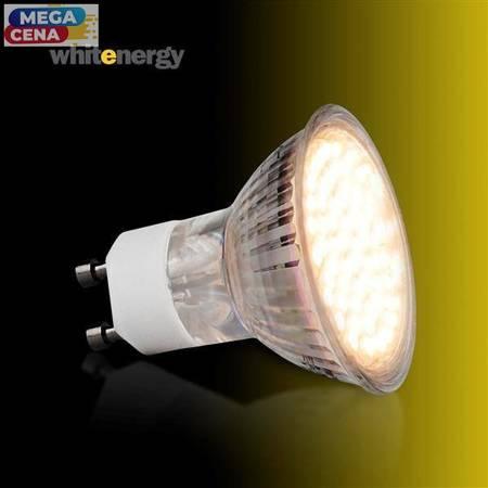 Whitenergy Żarówka LED 3W  GU10 MR16 SMD3528 ciepła 230V Halogen / szybka