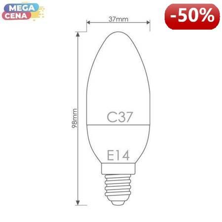 Whitenergy Żarówka LED 5.5W  E14 C37 SMD3030 ciepła 230V Świeczka / mleczne