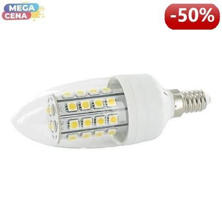 Whitenergy Żarówka LED 5W  E14 C35 SMD5050 ciepła 230V Świeczka / transparentne