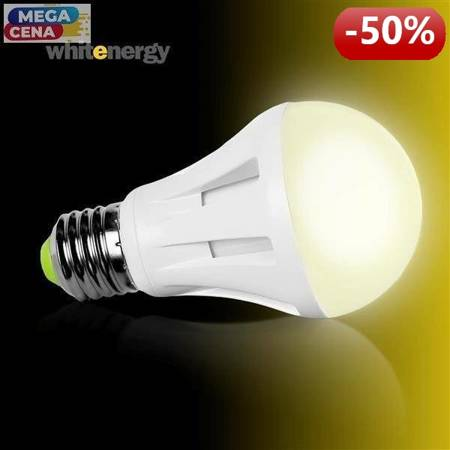 Whitenergy Żarówka LED 6W  E27 A60 SMD3030 ciepła 230V Klasyczna / mleczne