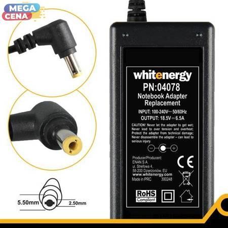 Whitenergy Zasilacz AC  Ładowarka do laptopa 18.5V 6.5A 120W 5.5x2.5 mm