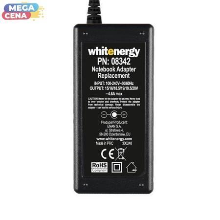 Whitenergy Zasilacz AC Ładowarka do laptopa uniwersalna 70W 15-20V 4.6A 10 wtyczek automatyczny