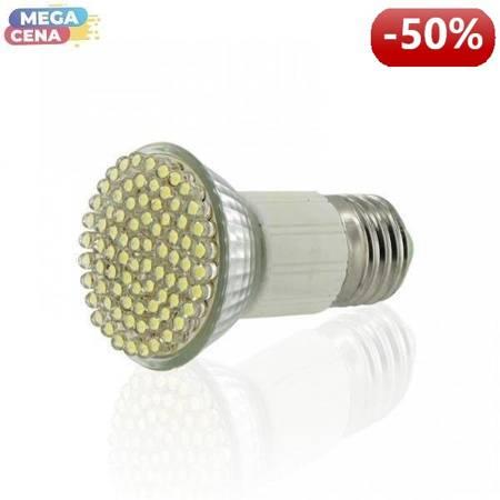 Whitenergy Źródło LED 60xDIP MR16 E27 3W 230V zimne białe bez szybki