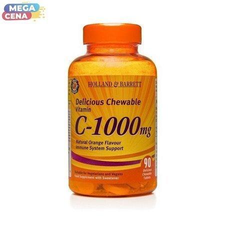 Witamina C 1000 mg z Dziką Różą 90 Tabletek do Żucia