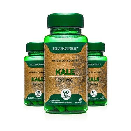 Zestaw Suplementów 2+1 (Gratis) Jarmuż 750 mg 60 Kapsułek