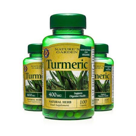 Zestaw Suplementów 2+1 (Gratis) Kurkuma 400 mg Produkt Wegański 100 Kapsułek