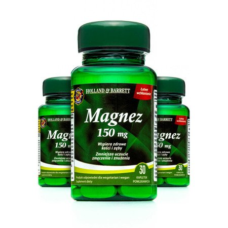 Zestaw Suplementów 2+1 (Gratis) Magnez 30 Kapletek 150mg