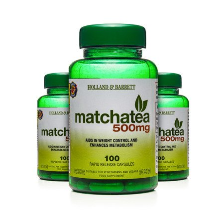 Zestaw Suplementów 2+1 (Gratis) Matcha 500 mg 100 Kapsułek