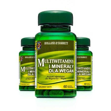 Zestaw Suplementów 2+1 (Gratis) Multiwitaminy i Minerały 60 Tabletek Produkt Wegański