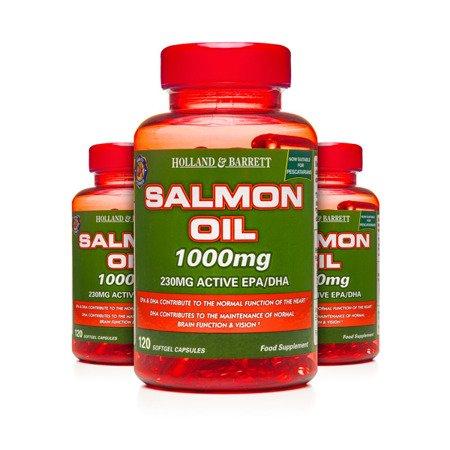Zestaw Suplementów 2+1 (Gratis) Olej z Łososia 1000 mg dla Pescowegetarian 120 Kapsułek Żelowych