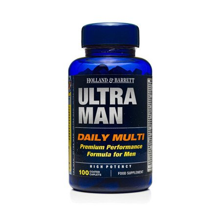 Zestaw Suplementów 2+1 (Gratis) Ultra Man Multiwitamina dla Mężczyzn 100 Kapletek