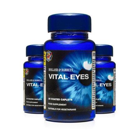 Zestaw Suplementów 2+1 (Gratis) Vital Eyes Zdrowe Oczy 30 Tabletek