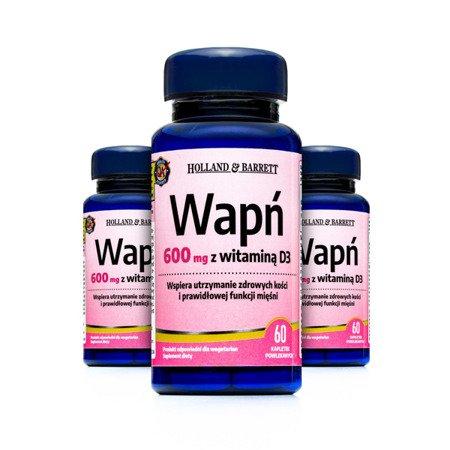 Zestaw Suplementów 2+1 (Gratis) Wapń z Witaminą D 60 Tabletek