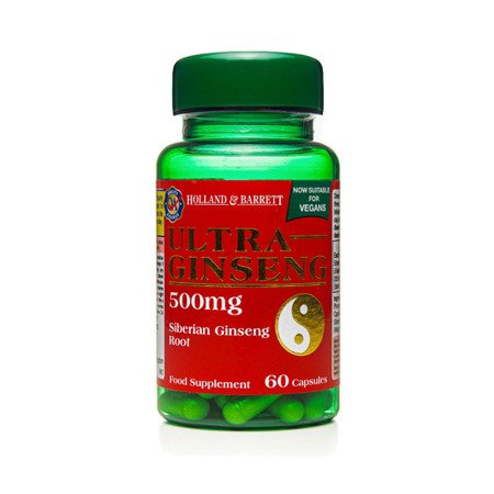 Zestaw Suplementów 2+1 (Gratis) Żeń-szeń 500 mg Produkt Wegański 60 Kapsułek
