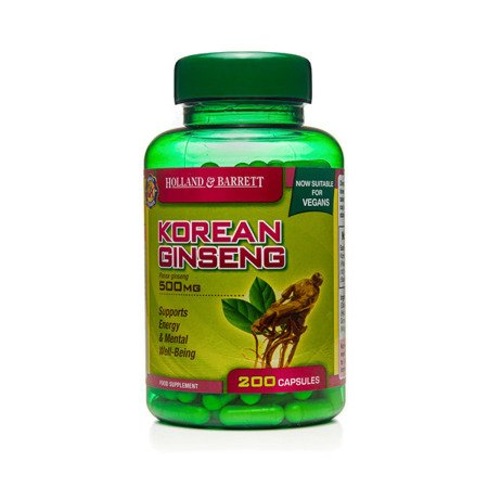 Zestaw Suplementów 2+1 (Gratis) Żeń-szeń Koreański 500 mg Produkt Wegański 200 Kapsułek