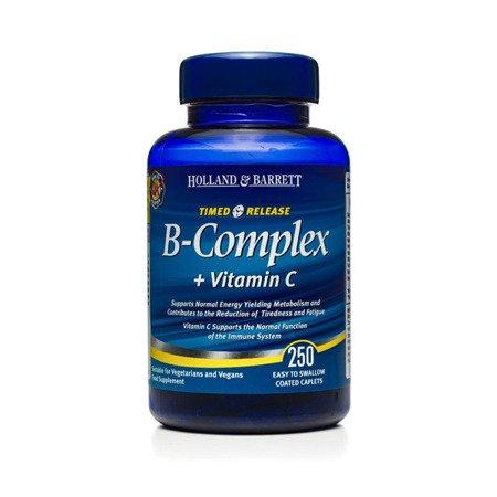 Zestaw Witamin 2+1 (Gratis) Witamina B Complex z Witaminą C o przedłużonym uwalnianiu 250 Kapletek