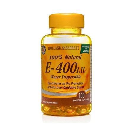 Zestaw Witamin 2+1 (Gratis) Witamina E Rozpraszalna w Wodzie 400 j.m. Produkt Wegański 100 Kapsułek Żelowych